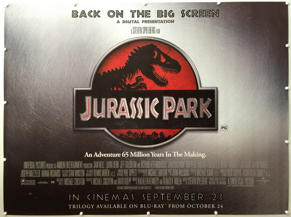 Jurassic Park Rerelease 2011 UK Quad