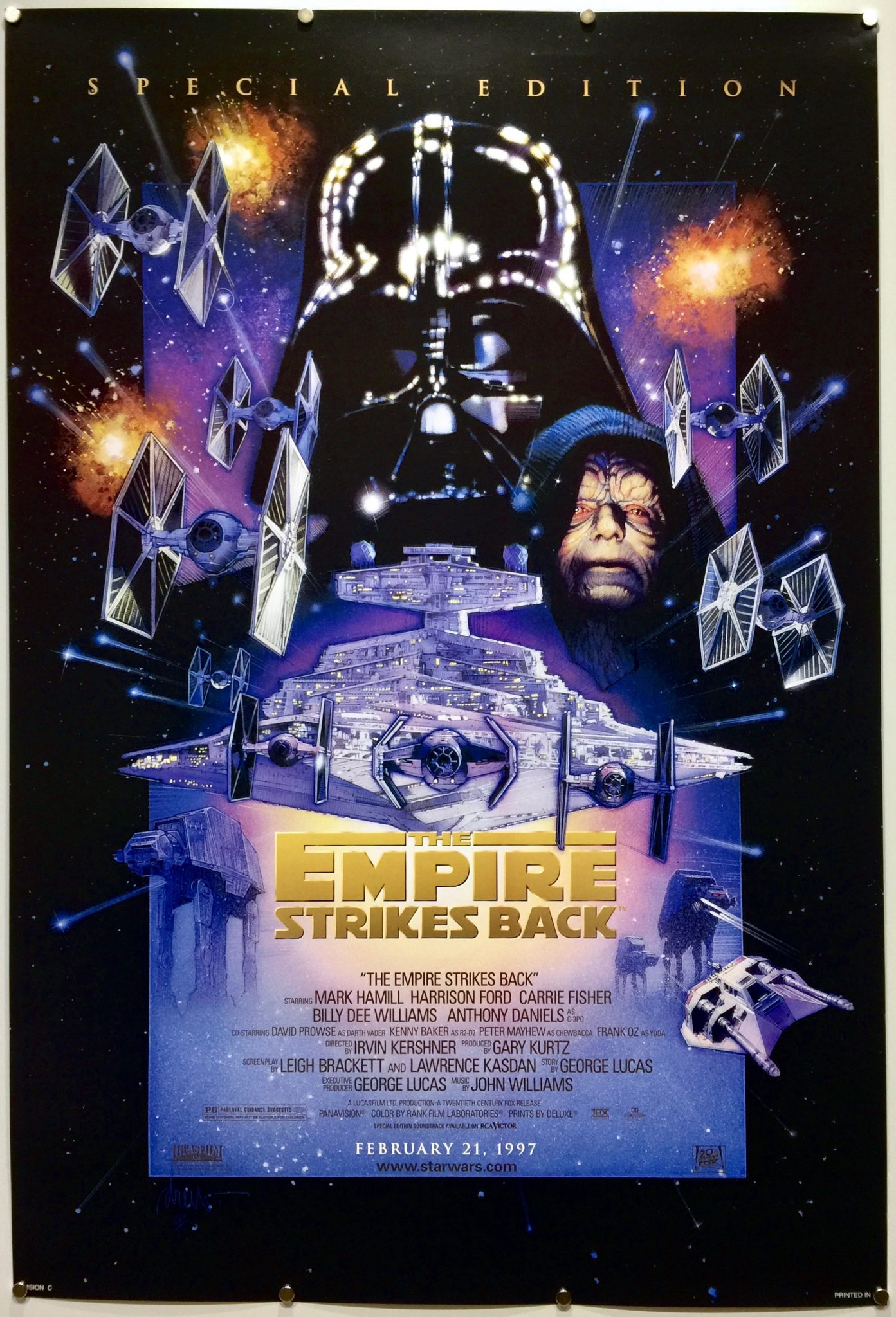 The Empire Strikes Back 1980 R1997 Us One Sheet The Poster Collector