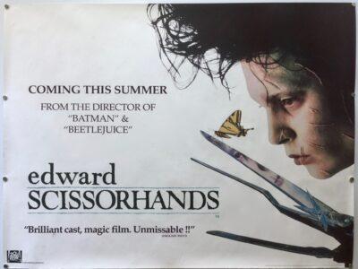 Edward Scissorhands TEASER UK Quad